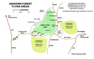 Free Flight competition on Ashdown Forest @ Adhdown Forest