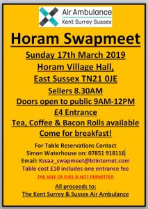 Horam Swapmeet @ Horam Village Hall